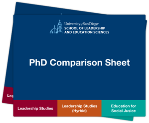 PhD Comparison Sheet Mockup